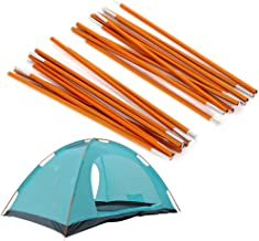 2pcs Aluminum Alloy Tent Pole Support Replacement Accessory for Camping Hiking, 142 inch/pc