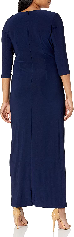R&M Richards Women's Long and Classic Sequins Cascade Dress