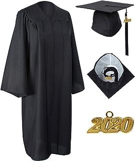 GraduationService Unisex Matte Graduation Gown Cap with 2020 Tassel for Graduation Ceremony