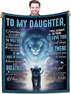 Blanket to My Daughter from Dad Printed Quilts Fleece Blankets Birthday Gift Ultra-Soft Micro Light Weight Warm Bed Plush ...