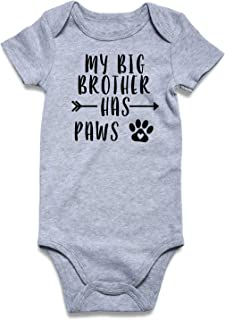 my big brother has four paws onesie