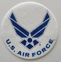 Air Force Edible Wafer Cupcake / Cookie Toppers Licensed by Decopac ~ Pre Cut 2 1/2