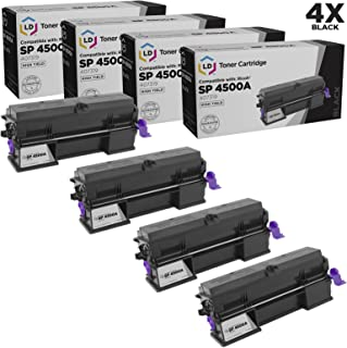LD Compatible Toner Cartridge Replacement for Ricoh 407319 High Yield (Black, 4-Pack)