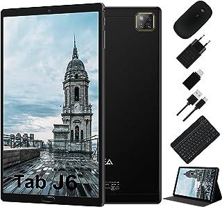 Tablet 10 Pulgadas Android 10.0 - RAM 4GB | ROM 64GB - WiFi - Octa Core (Certificación Google GMS) -JUSYEA Tableta - Batería de 6000mAh —Ratón | Teclado y Otros (Negro)