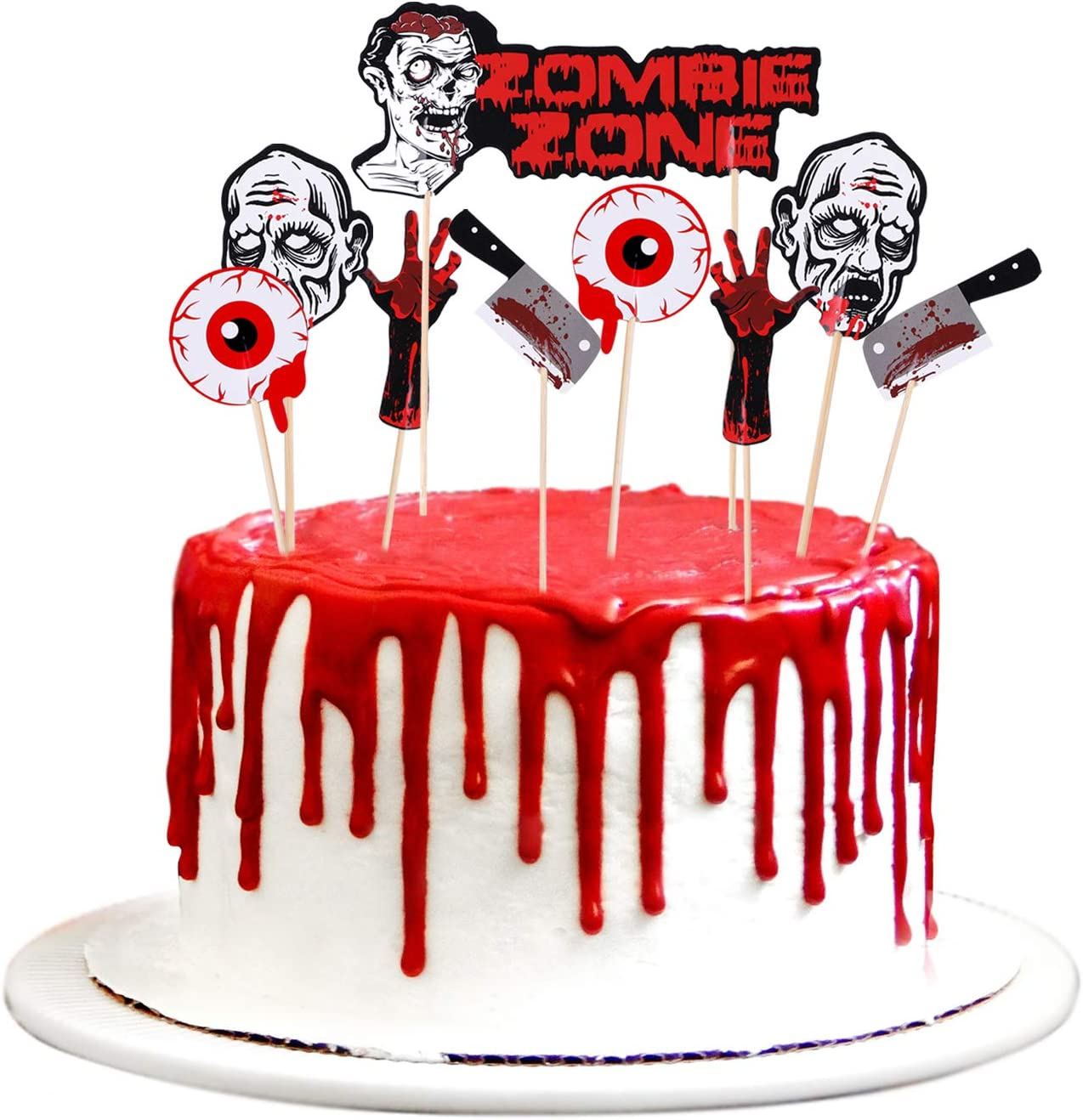 Konsait Halloween Cupcake Toppers Halloween Party Picks Cake Toppers for Halloween Party Favor Supplies Decorations Food Cake Decor (18Pcs)