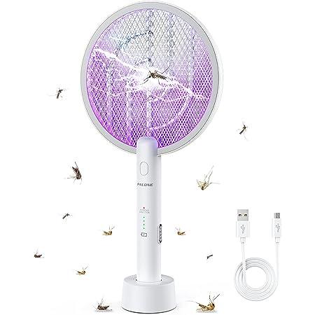 PALONE Raquette Anti Moustiques Électrique Tapette anti-moustique électrique USB, utilisée pour tuer les moustiques et autres insectes volants, convient pour intérieur et extérieur