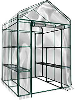 Home-Complete Walk-In Greenhouse- Indoor Outdoor with 8 Sturdy Shelves-Grow Plants, Seedlings, Herbs, or Flowers In Any Season-Gardening Rack (Renewed)