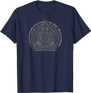Sanskrit Gayatri Mantra Lotus Mandala Meditation Yoga Tee