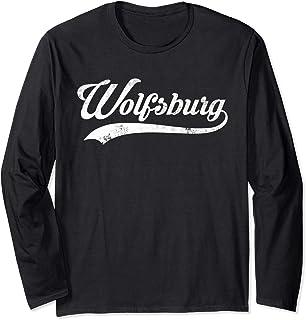 Wolfsburg Stadt Vintage Design - Cool Old School Langarmshirt
