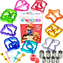 29pc Sandwich Cutter Set for Kids of All Ages - Turn Vegetables, Fruits, Cheese, and Cookie Into Fun Bites - Add to Bento Box and Lunch Box - Toddlers Boys and Girls - Easy to Use