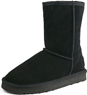 Shenduo Zapatos Invierno Clásicos - Botas de Piel Planas