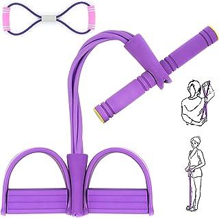 AJOXEL Estensore Fitness Polivalente Sit Up Pull Rope Pedale Addominali Corda Elastica Leg Exerciser Attrezzatura Palestra...