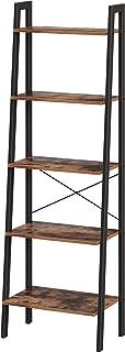 VASAGLE LLS45X - Estantería de pie con 5 estantes con Marco de Metal fácil Montaje para salón Dormitorio Cocina 56 x...