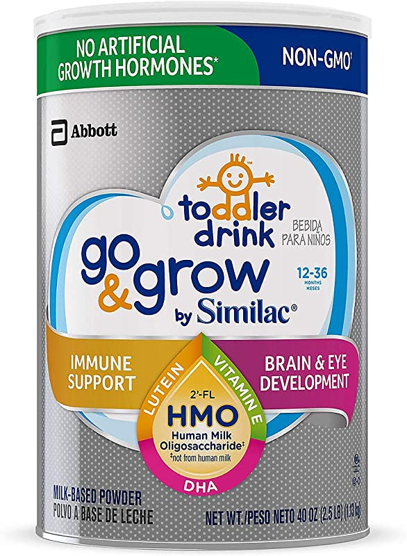 Similac Go Grow Non GMO With 2 FL HMO Milk Based Powder Toddler Drink 40 Oz 4 Pack Special