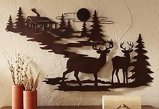 metal wall art deer