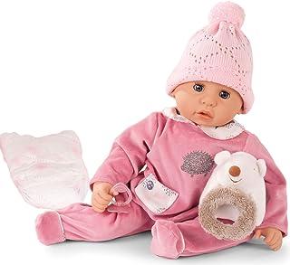 Götz Götz 1961049 Cookie Igel Puppe - 48 cm große Babypuppe mit blauen Schlafaugen, ohne Haare und einem Weichkörper - 6-teiliges Set