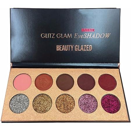 Paleta de sombras de ojos de 18 colores con purpurina resistente al agua, paleta de sombras de ojos profesional con perlas metálicas