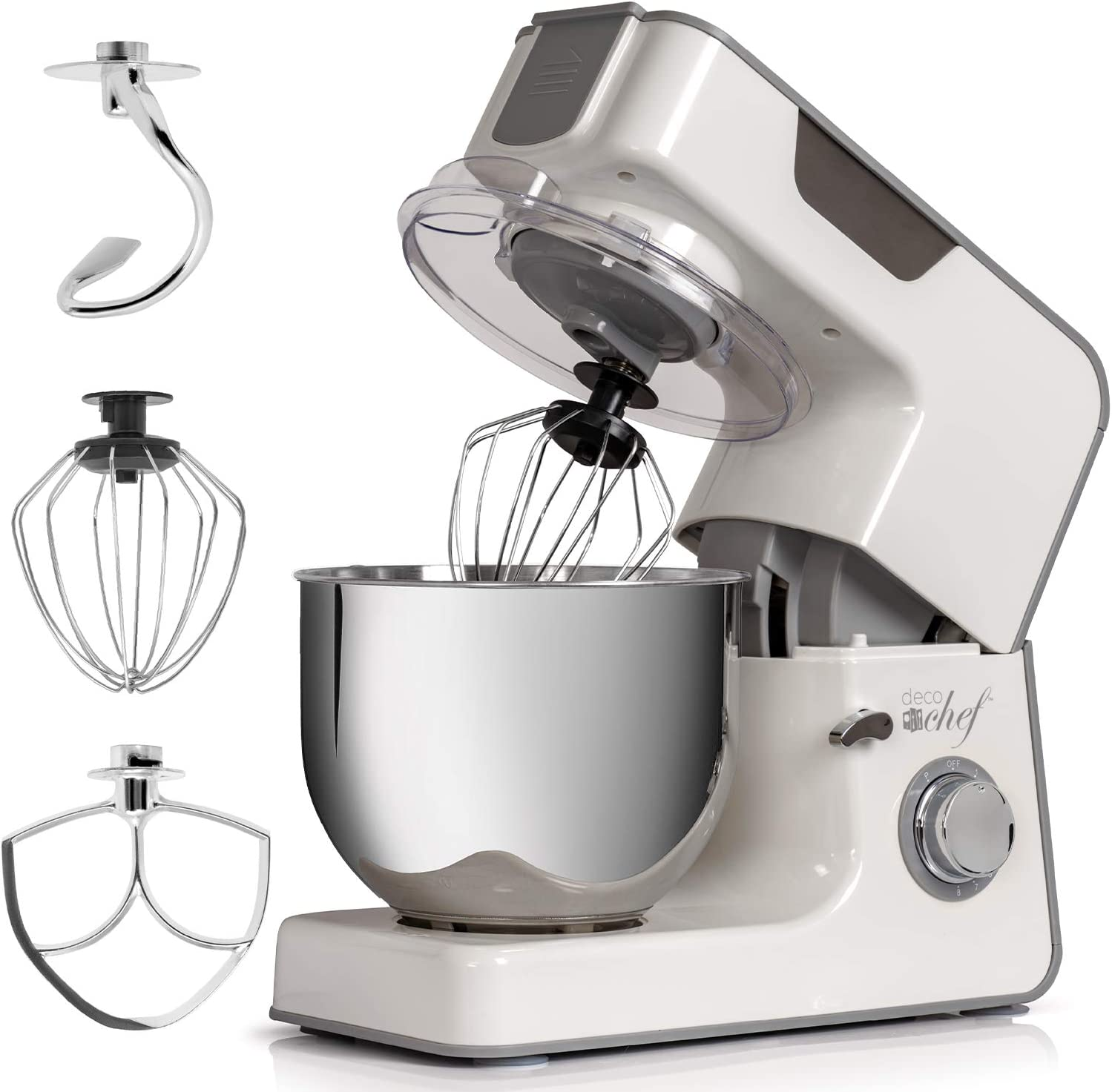 Deco Chef 5.5 QT Kitchen Stand Mixer, 550W 8-Speed Motor with Pu