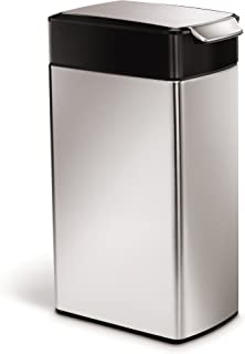 simplehuman Slim Touch Bar Bin, 40 L - Brushed Stainless Steel