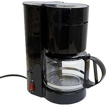 Cafetera con jarra de cristal (12 tazas/24 V/300 W Viaje Cafetera ...