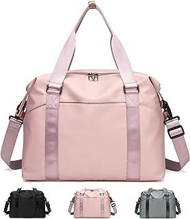 FEDUAN original Shopping-Bag Reisetasche Sporttasche faltbar wasserfest groß leicht Handgepäck Weekender Handtasche Einkaufstasche Freizeit-Tasche Damen Einkaufen rosa pink schwarz grau
