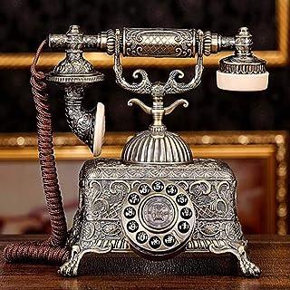 Retro Button-Type Telephone, Zinc Alloy Body Antique Telephone Living Room Home Decoration Vintage Landline Retro Landline