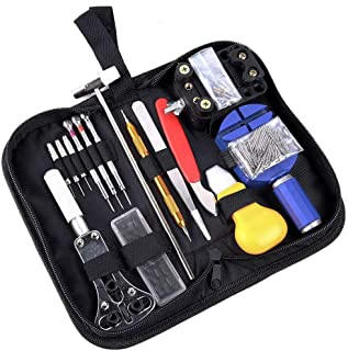 Watch Repair Kit 147PCs,Professional Watchmaker Tools Set for Spring Bar Remover,Case Opener,Watch Band Link and Battery Change (147pcs)