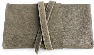 Portafoglio CRIS, portafoglio in pelle grigio, portafoglio da donna. Cris LEATHER WALLET