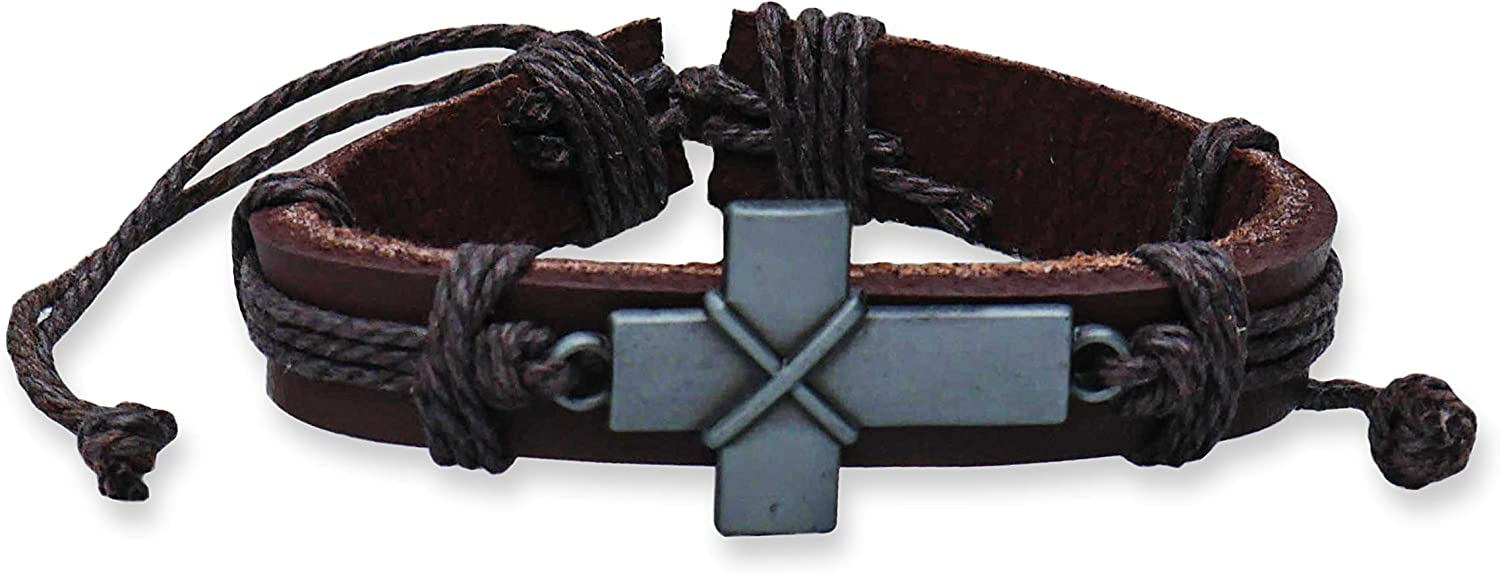 Max 66% OFF epiphaneia Vintage Reservation Style Cross Brac Christian Adjustable Leather