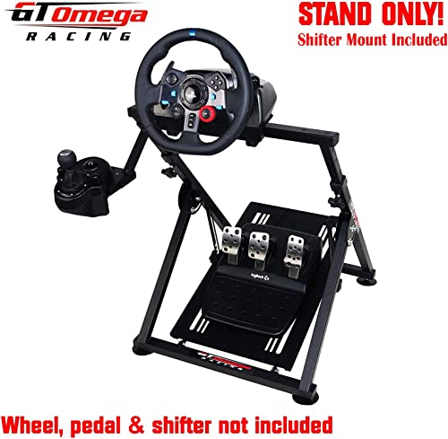 GT Omega APEX Racing Wheel Stand for Logitech Fanatec Clubsport Thrustmaster Gaming Steering Wheel Pedal & Shifter Mo...