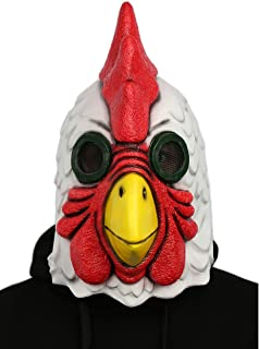 Xcoser Rooster Cock Mask Full Head Props for Halloween Cosplay Latex