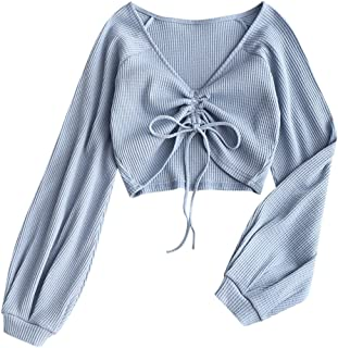 Best cropped long sleeve Reviews