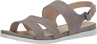 LifeStride Women's Ashley 2 Flat Sandal, Grey, 6 W US