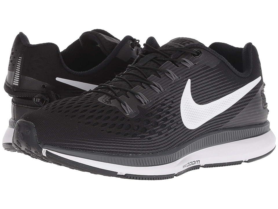 Nike Air Zoom Pegasus 34 FlyEase (Black/White/Dark Grey/Anthracite) Women