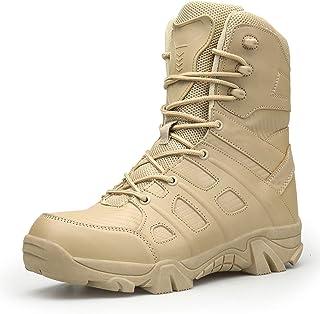 SMGPY Bottes Tactiques Militaires,Bottes Hommes Chaussures De Randonnée Femmes Combat Boots Exterieur Antidérapantes Botti...