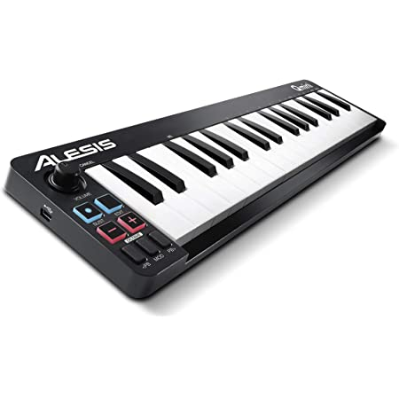 Alesis MIDIキーボード USBコントローラー 32鍵 ベロシティ対応 音楽製作ソフトウェア付属 Qmini