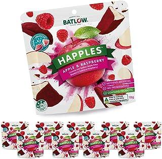 Batlow Happles Crispy Apple Slices - Freeze Dried & Coated in Raspberry Powder – Gluten Free, Lactose Free & Low Fat Snack...