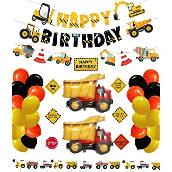 Construction Birthday Party Plates Supplies Dump Truck Party Decorations Kits Set for Boy Kids Birthday Party