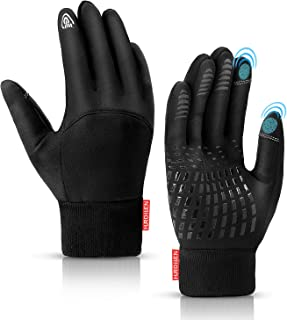 Hurdilen Winter Gloves for Men and Women, Lightweight Sports Gloves, Warm Anti-Slip Touch Screen...