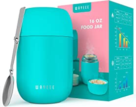 Thermos for Hot Food, WayEee Insulated Lunch Containers Soup Thermos 16 oz for Kids Adults Lunch Box, Vacuum Stainless Ste...