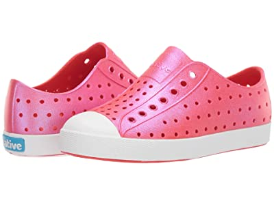 Native Kids Shoes Jefferson Iridescent (Little Kid) (Fire Iridescent/Shell White/Galaxy) Girls Shoes