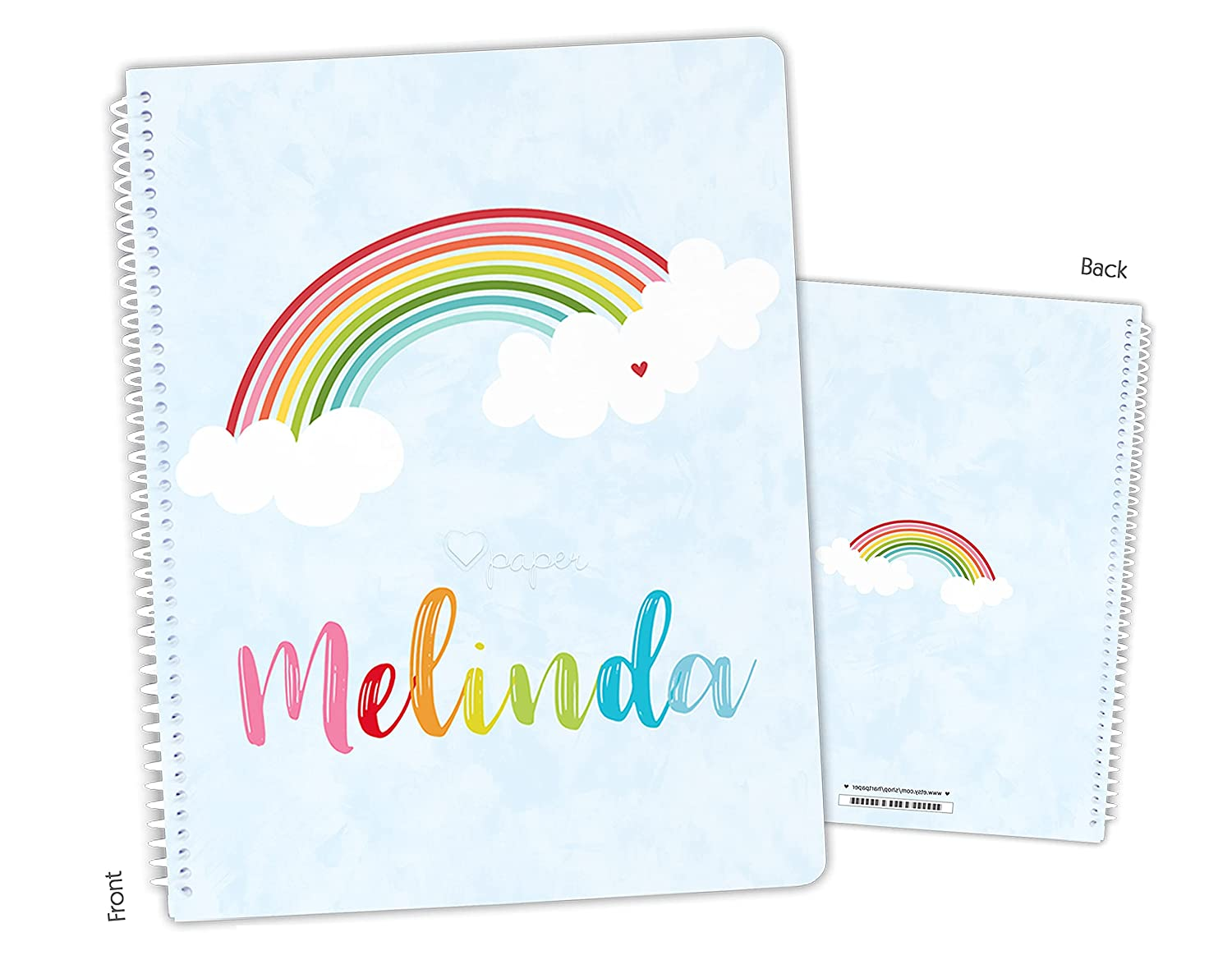 Personalized Rainbow Clouds Sky Notebook Spiral Sketchbook Spring new work one after another Columbus Mall Bound