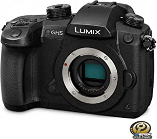 Panasonic Lumix DC-GH5 Mirrorless Digital Camera Body Only - 20.3 MP, 4K, Black