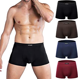 Men's Breathable Modal Microfiber Trunks Underwear Covered Band Multipack