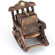 Suvasane® Wooden Antique Look Chair Shape Coaster Set Gift Item