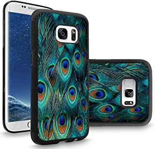 Samsung S8 Case Customized Black Soft Rubber TPU Case For Galaxy S8 Case Black HD peacock feather