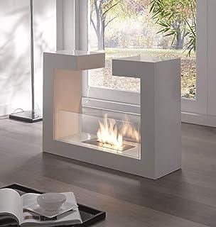 Design Twist Piedras Fuego Tete a Tete, Metal, Blanco, 78 x 25 x 58 cm