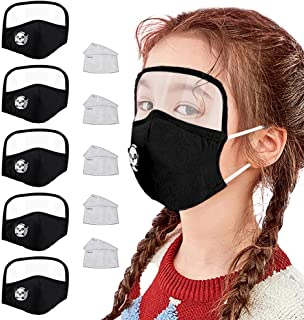 Happy Cherry Girls Boys Face Bandanas Cotton with Carbon Replaceable Filter for Outdoors Sports Festivals