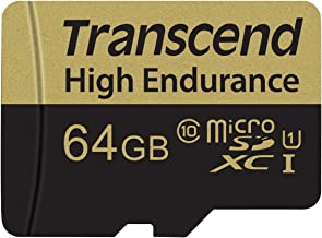 Transcend Information 64GB Micro Card with Adapter (TS64GUSDXC10V)