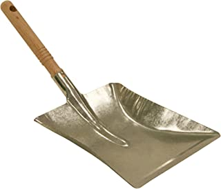 Kamino-Flam Coal Shovel with Wooden Handle, Coal Scoop, Galvanised Steel Ash Shovel with Perforated Handle, Dustpan for Fi...